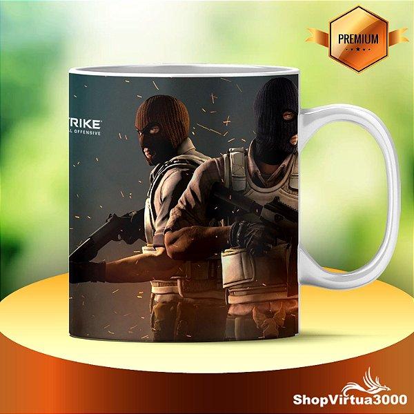 Caneca Cerâmica Classe +AAA Personalizada Counter Strike : Global Offensive no Steam - 01 Unidade