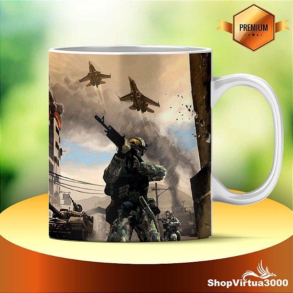 Caneca Cerâmica Classe +AAA Personalizada Battlefield Modelo 01 - 01 Unidade