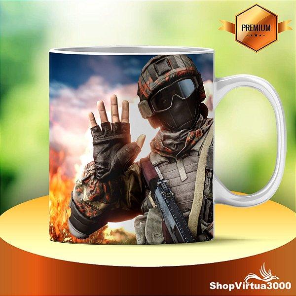 Caneca Cerâmica Classe +AAA Personalizada Battlefield 4 Modelo 04 - 01 Unidade