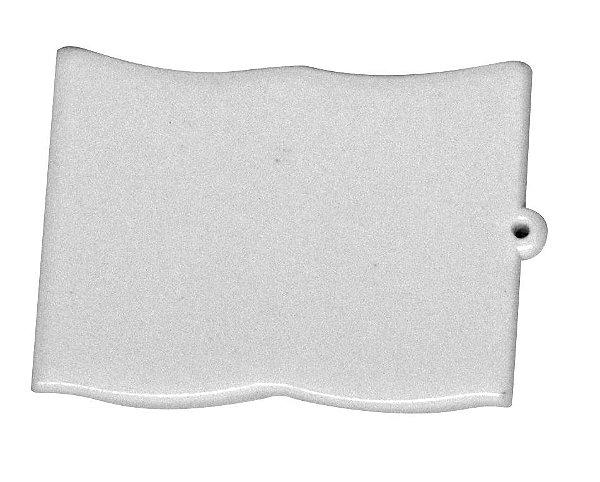 Chaveiro Em Polímero Branco para Sublimação Formato Bíblia (Sem Argola) - Pacote Com 10 Unidades