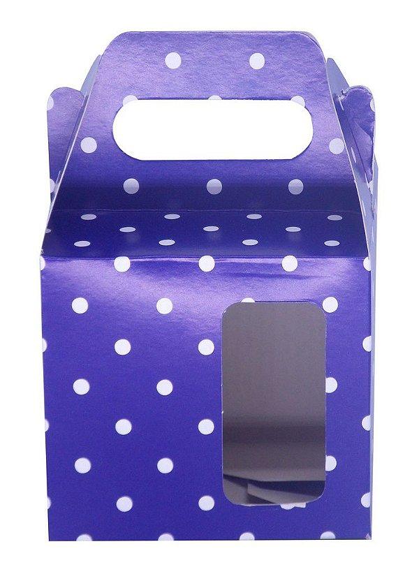Caixinha de Caneca Bola Azul Royal Janela Fundo Automático (AL3021) - 50 Unidades