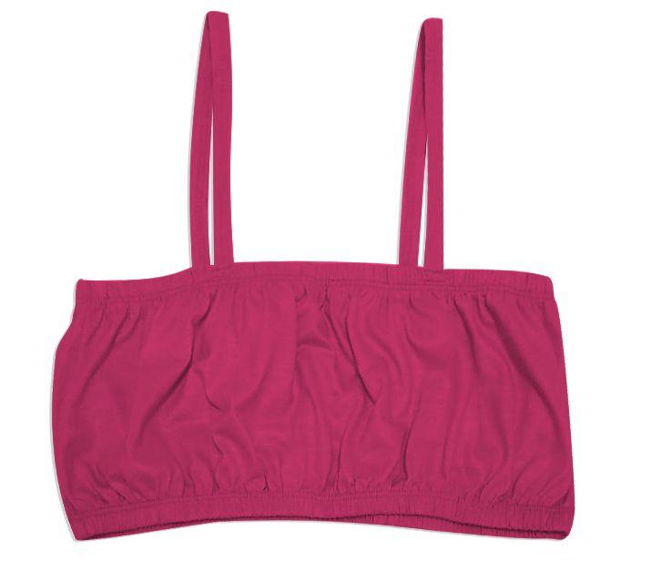 Top Cropped para Sublimação Com Alça Tamanho Único Em Poliéster Rosa Pink - 01 Unidade
