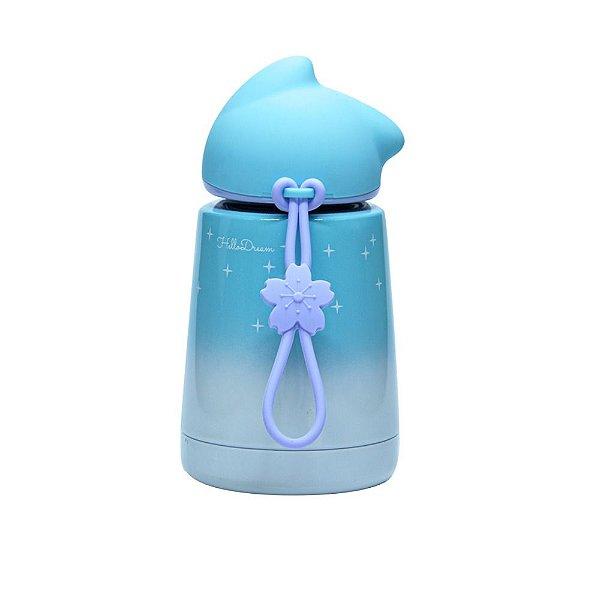 Garrafa Térmica Linha Luxo Gatinho em Inox Sublimável Azul Claro Neve 300ml (ShopVirtua3000®) (3026) - 01 Unidade (PROMO TOP)