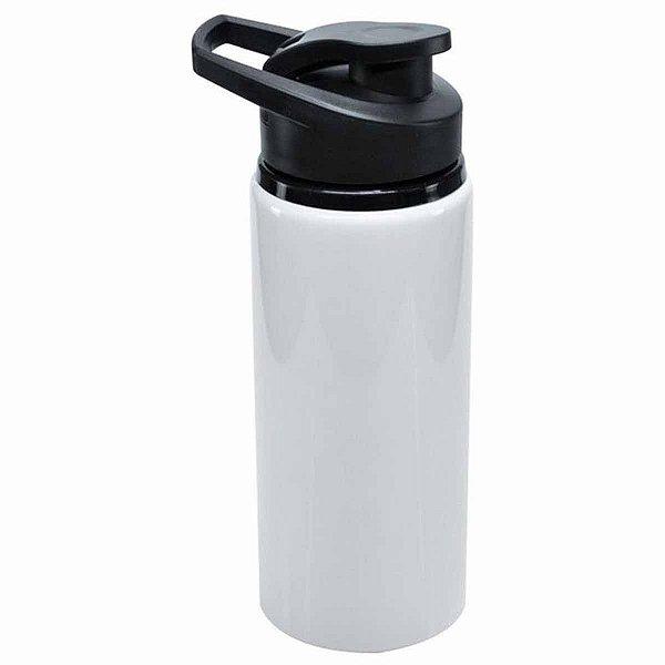 Squeeze Big Mouth em Alumínio Sublimável Branca 600ml Tampa Pressão (ShopVirtua3000®) (2983) - 01 Unidade (PROMO TOP)