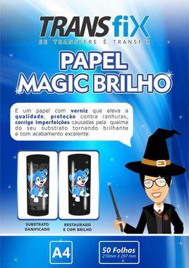 Papel Magic Brilho 90g Transfix A4 - Pack 50 Folhas (LINHA TRANSFER ESPECIAL)