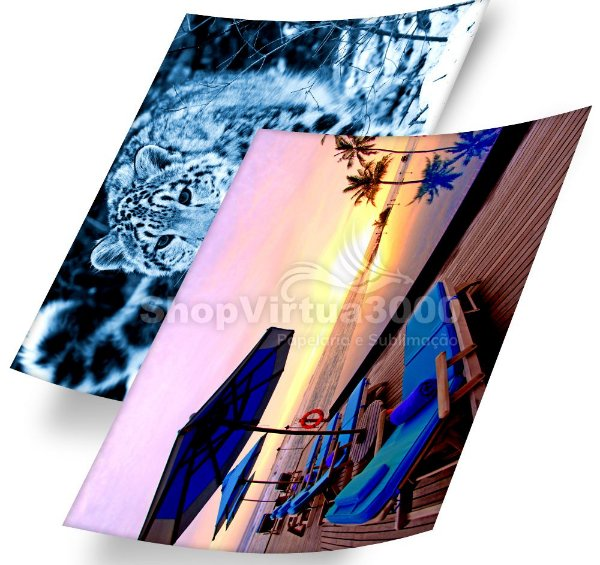 Papel Fotográfico Adesivo Glossy (SV3000) 135g/m² - A4 (BC-2005) - 20 folhas