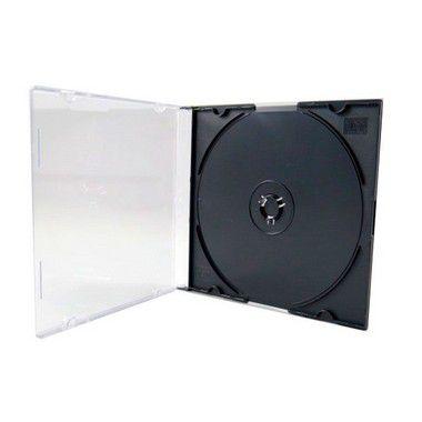 Box CD Super Slim Simples Preto (HBS) - 100 Unidades