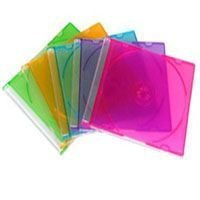 Box CD Super Slim Amarelo - 01 Unidade