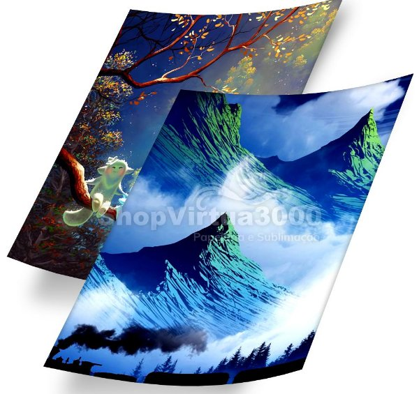 Papel Fotográfico Glossy Dupla Face 260g/m² - A4  ShopVirtua3000 - 20 Folhas