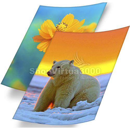 Papel Fotográfico Glossy (resistente à água apenas p/ tintas corantes) 115g/m² - A4 (BC-2001) - 20 folhas