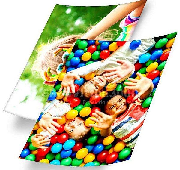 Papel Fotográfico Adesivo Glossy (resistente à água apenas p/ tintas corantes) 115g/m² - A4 (BC-2002) - 100 folhas