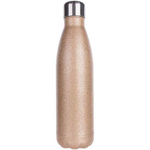 Garrafa Térmica Para Sublimação em Inox Glitter Dourado 500ml (2672) - 01 Unidade (PROMO BOAS FESTAS)