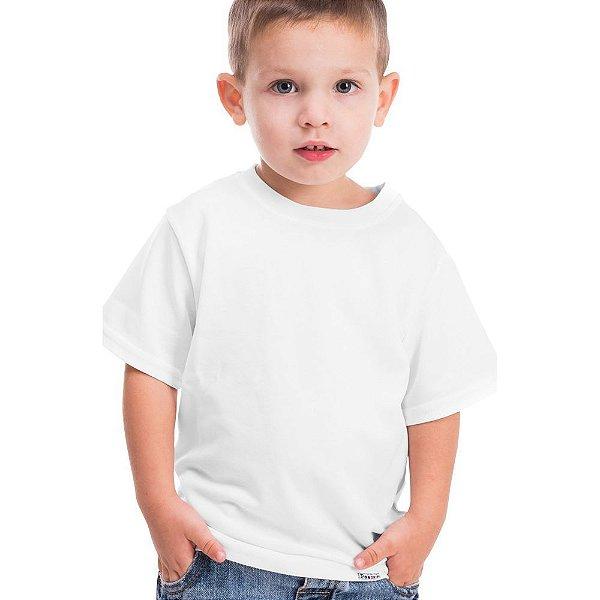 Camiseta/Camisa Tamanho Infantil 02 anos Gola Careca Unissex 100% poliéster Branca Sublimática - 01 Unidade