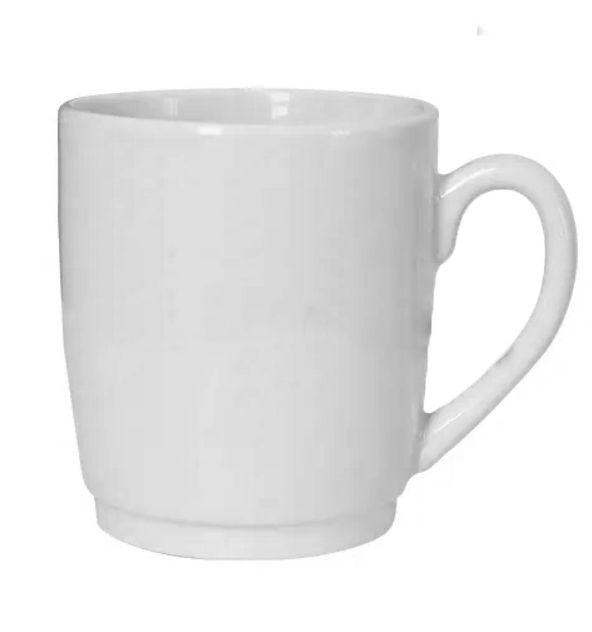 Caneca Cerâmica Branca 325ml (Linha Silicone) (2271) - 01 Unidade