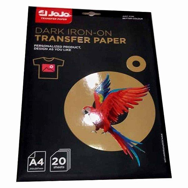 Papel Transfer Inkjet Dark A4 180g (Tinta Pigmentada) (BA-1005) - Pack 20 folhas