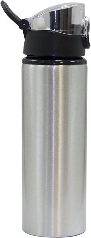 """Squeeze Prata 750ml em Alumínio """"Big Mouth"""" Com Tampa Bico Para Sublimação (ShopVirtua3000®) (2986) - 01 Unidade"""