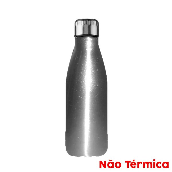 Garrafa de Alumínio Esportiva Sublimável Prata 500ml Fundo Estrela (3302) - 01 Unidade