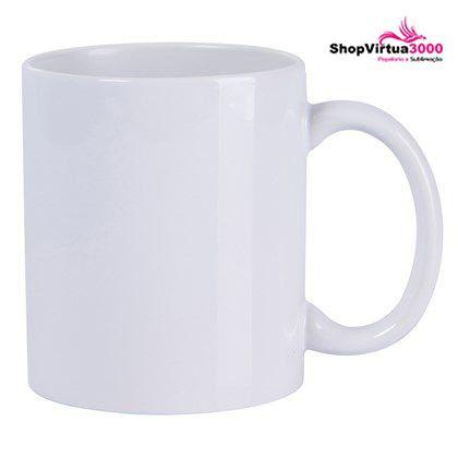 Caneca Cerâmica Branca ShopVirtua3000® Importada Classe +AAA 325ml Para Sublimação (TOP 01) - 01 Unidade