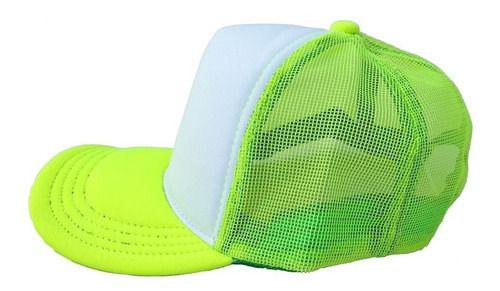 Boné de Tela e Aba Verde Claro com a Frente Branca para Sublimação - Tamanho Único - 01 Unidade (3395)