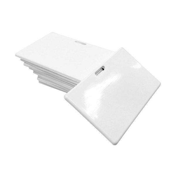 Crachá de Polímero Branco para Sublimação Horizontal 8x5cm 4mm (Sem Cordão) - 10 Unidades