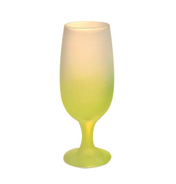 Taça de Vidro Jateado Degradê Amarelo Para Sublimação 330ml (3734) - 01 Unidade