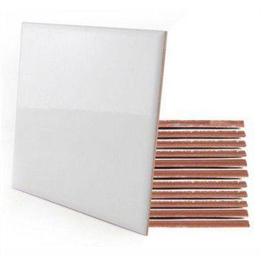 Azulejo de Cerâmica Resinado para Sublimação Brilhoso 15x15 Cm (AD271) - 63 Unidades (Caixa Fechada)