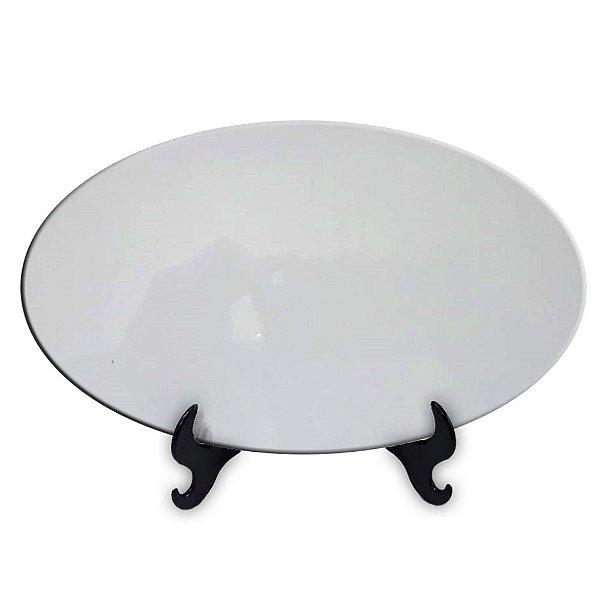 Azulejo Formato Oval de Cerâmica Resinado para Sublimação Brilhoso 25x15 Cm (260)
