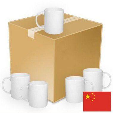 Caneca Cerâmica SMART SUB® Branca Classe B 325ml Importada Resinada P/ Sublimação (4000) - 36 Unidades