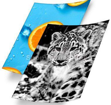 Papel Fotográfico Adesivo Glossy (resistente à água apenas p/ tintas corantes) 115g/m² - A3 (BC-2003) - 20 folhas