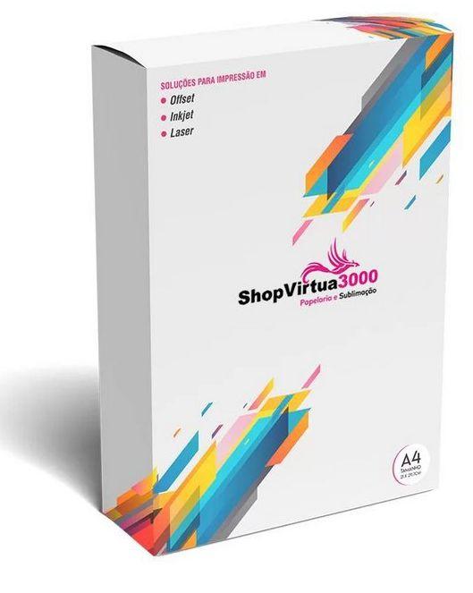 Vinil Adesivo Transparente InkJet Para Tinta Corante A4 (209) - 100 Folhas