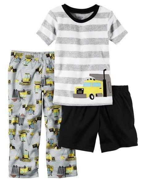 Conjunto pijama 3 peças Trator - CARTERS