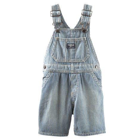 Jardineira jeans azul listrada - OSHKOSH