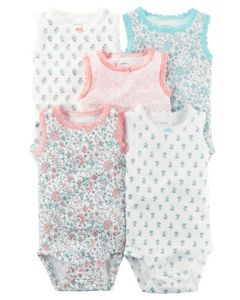 Kit body regata floral - CARTERS