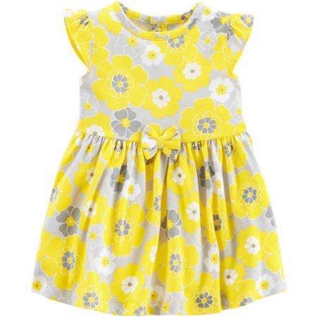 Vestido amarelo florido com tapa fralda Child of Mine made by CARTERS