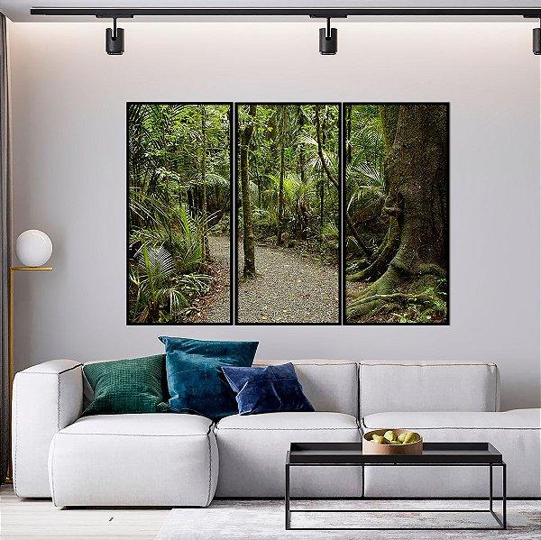 Conjunto com 03 quadros decorativos Caminho Natureza