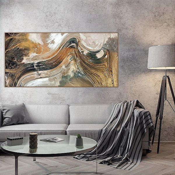Quadro decorativo Abstrato Gold