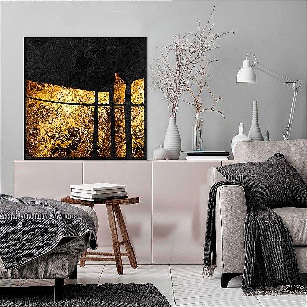 Quadro Decorativo Abstrato Geométrico - Artista Uillian Rius