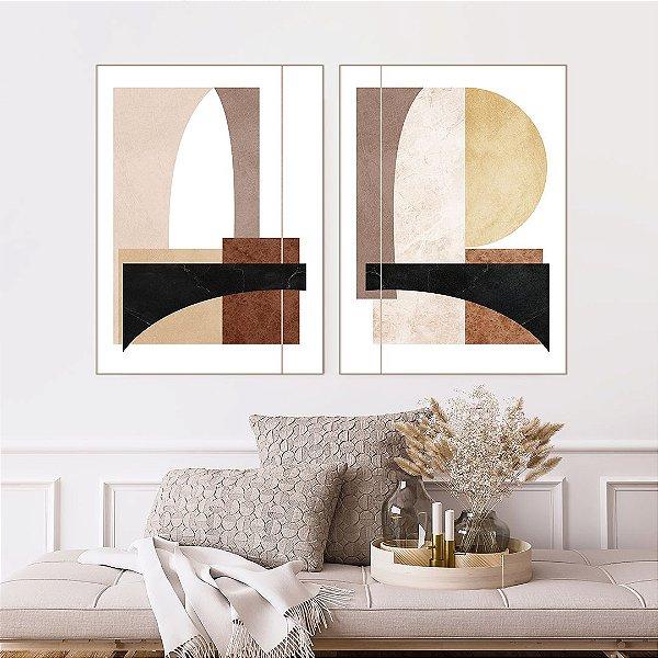 Conjunto com 02 quadros decorativos Minimalista - Artista Uillian Rius