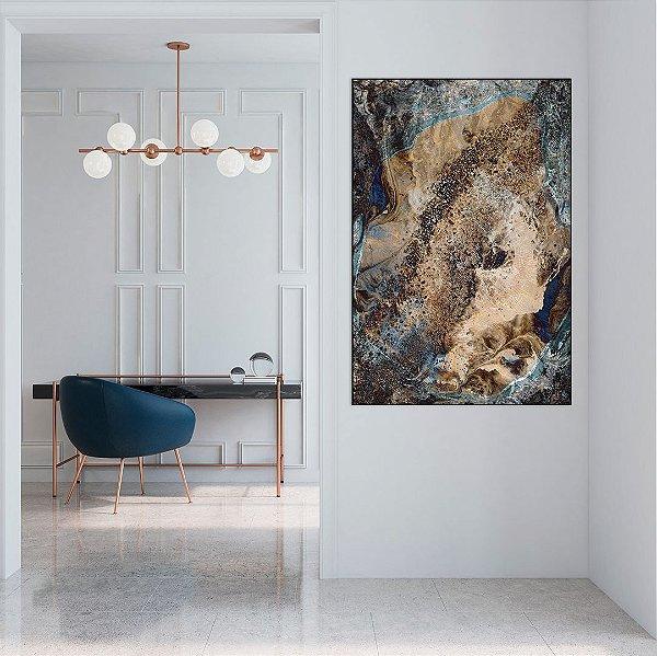 Quadro Decorativo Textura Azul - Artista Uillian Rius