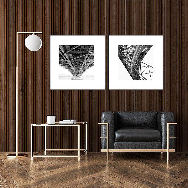 Conjunto com 02 quadros decorativos Pontes