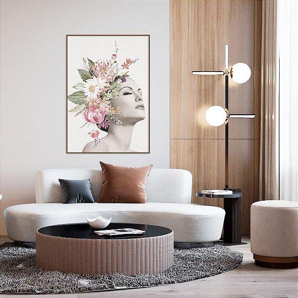 Quadro Decorativo Woman Flowers - Artista Claudia Dias