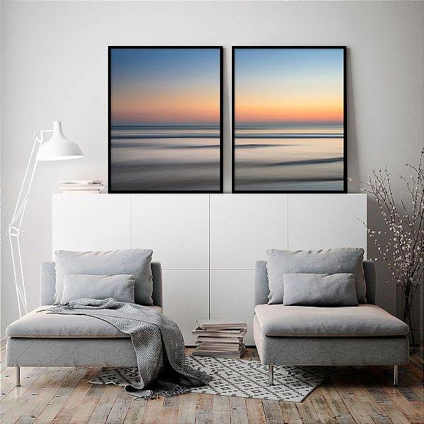 Conjunto com 02 quadros decorativos Leveza
