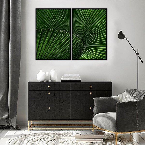 Conjunto com 02 quadros decorativos Tropical