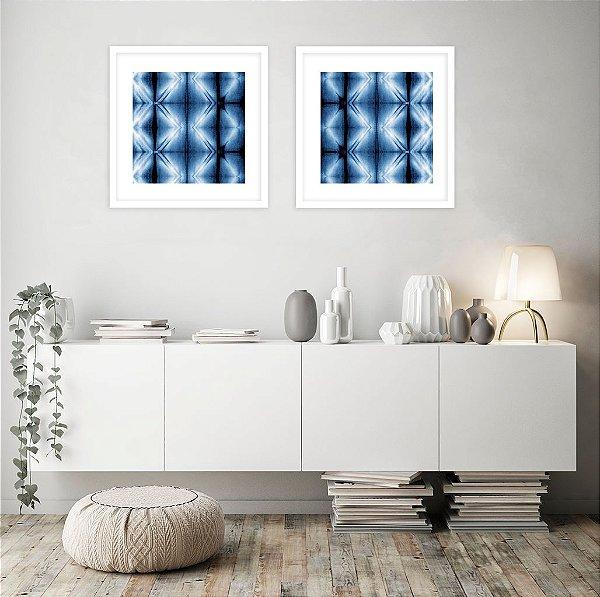 Conjunto com 02 quadros decorativos Blue