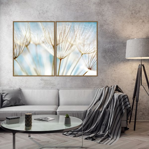 Conjunto com 02 quadros decorativos Sonho