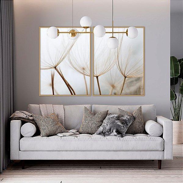 Conjunto com 02 quadros decorativos Dente-de-leão II