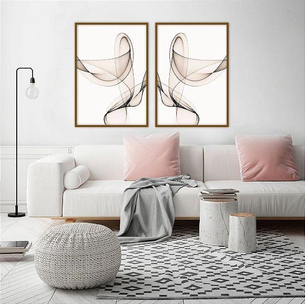 Conjunto com 02 quadros decorativos Forma