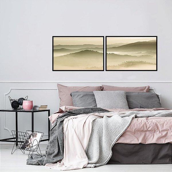 Conjunto com 02 quadros decorativos Renascer