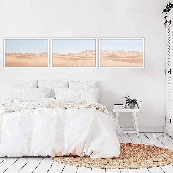 Conjunto com 03 quadros decorativos Deserto