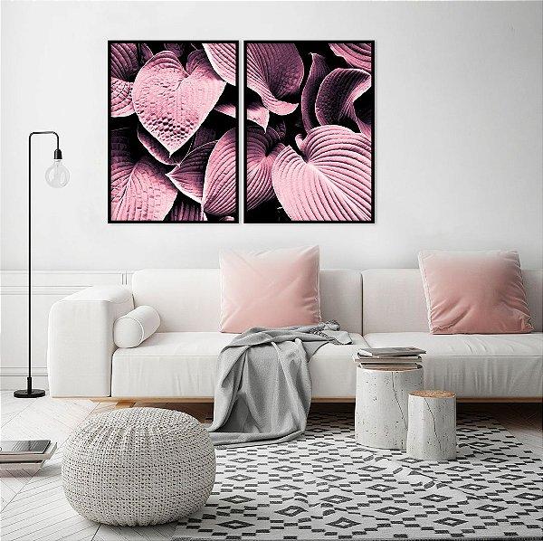 Conjunto com 02 quadros decorativos Feminine
